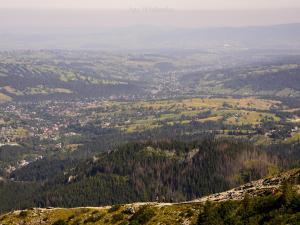 Widok z Przełęczy między Kopami- na Boczań.