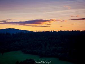 Nad Smolnikiem o zachodzie słońca