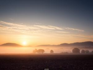Taki oto wschód Słońca w drodze do Karpacza