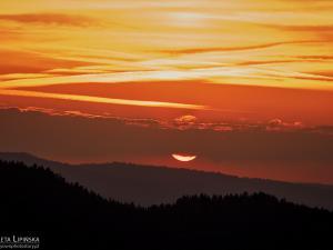 zachód słońca z Wysokiego Wierchu