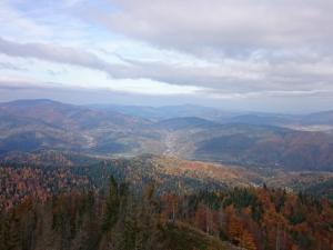 Krajobraz z wieży widokowej na Lubaniu