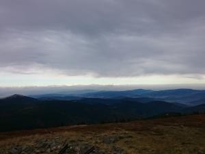 Widok ze szczytu Śnieżnika