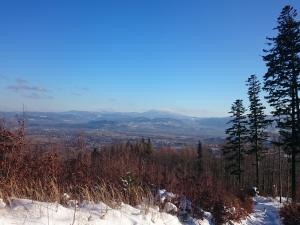 Niebieski szlak z Ostrego na Skrzyczne