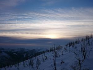 Zachód słońca na Skrzycznem