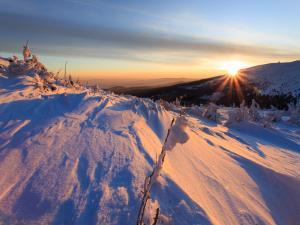 Wschód słońca na Szrenicy
