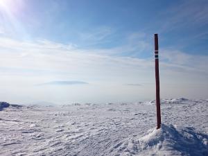 W drodze na Przełęcz Brona, widok na Pilsko i Romankę