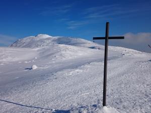W drodze na Przełęcz Brona, widok na Diablak