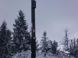 Krzyż na szczycie Leskowca