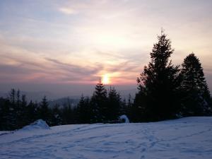 Zachód słońca na Potrójnej