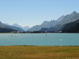Z popularnej ścieżki rowerowej mam taki widok na jezioro Silvaplanersee (ok. 1800 m n.p.m.)