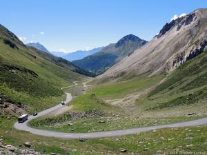 Tą drogą podjeżdżam na przełęcz Forcola di Livigno 2315 m n.p.m.