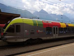 Tym pociągiem przyjechałem z Dobbiacco do Lienz w Austrii. Urlop się kończy - czas wracać do Polski...