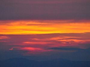Zachód słońca na Rysiance