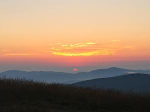 Wschód słońca na Hali Rysiance