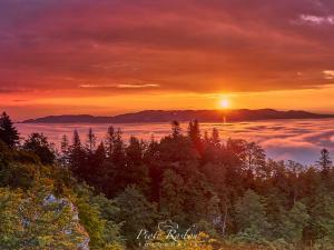 Wschód słońca z Trzech Koron
