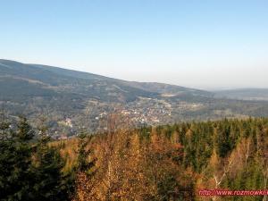 Panorama Świeradowa Zdroju z Sępiej Góry