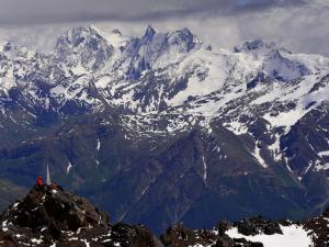 Panoramy Wysokiego Kaukazu.