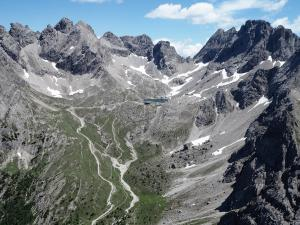 Ferrata Madonnen - trasa i widoki z trasy