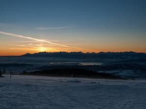 wschód słońca nad Tatrami