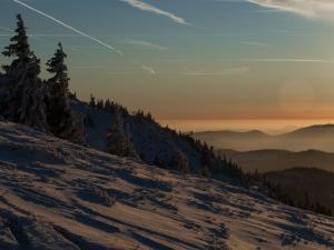 zachód slońca na Pilsku