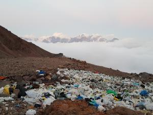 Wysypisko śmieci w okolicy Bethlemi Hut - na szczęście ponoć już wysprzątane