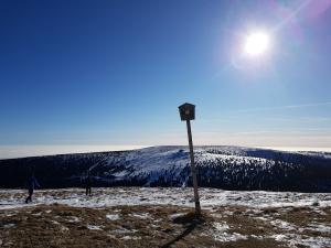 widok ze szczytu Pradziada