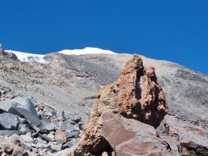 Widok na szczyt znad obozu drugiego