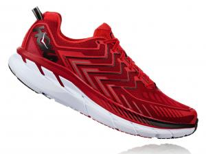 HOKA ONE ONE M's Clifton 4 Haute Red & High Risk Red