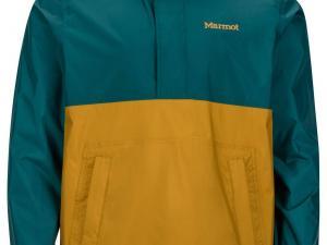 MARMOT M's Precip Anorak Electric Deep Teal & Dirty Gold - przód