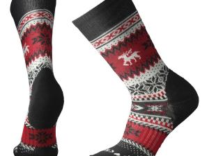 SMARTWOOL Chup Socks - model M's Reindeer Crew, kolor Black