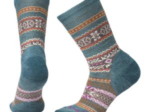 SMARTWOOL Chup Socks - model W's EXC Crew, kolor Mediterranean Green Heather