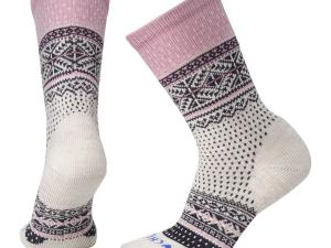 SMARTWOOL Chup Socks - model W's Genser Crew, kolor Moonbeam Heather