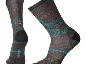 SMARTWOOL Curated Socks - model M's Dart Frog Print Crew, kolor Capri