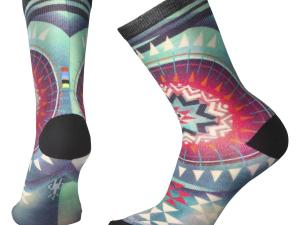 SMARTWOOL Curated Socks - model W's Morningside Print Crew, kolor Glacial Blue