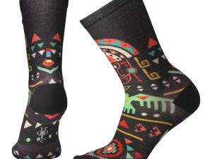 SMARTWOOL Curated Socks - model W's Totem Valley Print Crew, kolor Black
