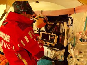 praca w ambulatorium na wysokości 3650m npm