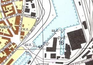Fragment mapy Calais
