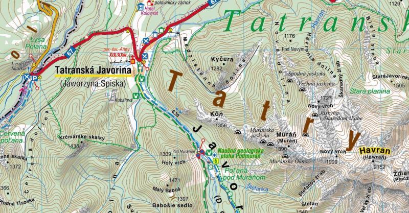 Tatry Polskie I Slowackie Czesc Wschodnia Mapa Online Compass