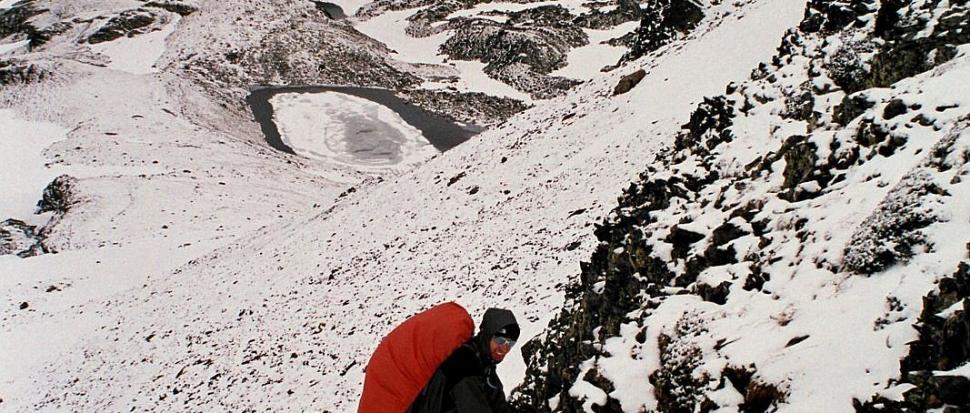 Zejście z Colado Meners, Andora, czerwiec