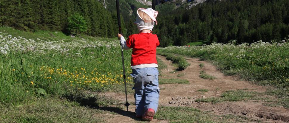 Trzylatki w górach