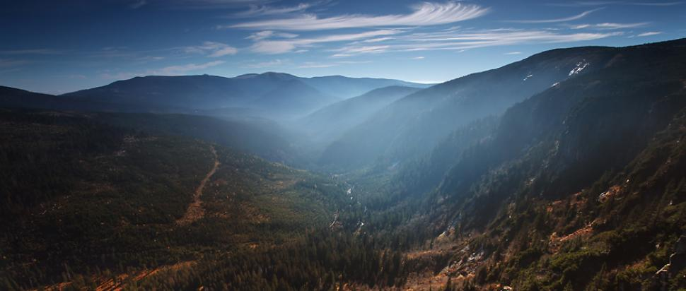 Dolina Łaby oglądana z Ambrožovej vyhlídki
