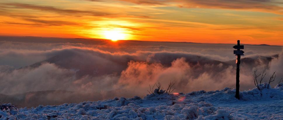 Zachód słońca na Jaśle
