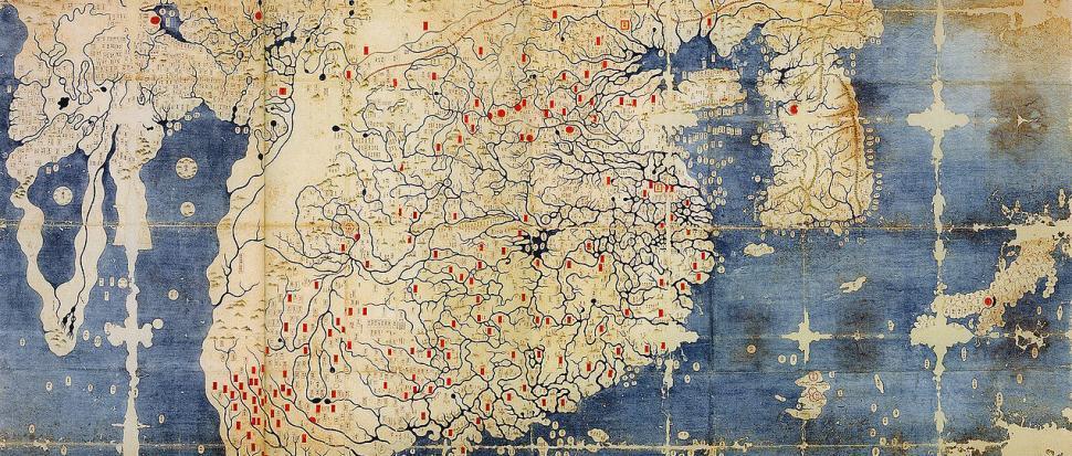 Pierwsza mapa skierowana na północ – koreańska Kangnido (1402)