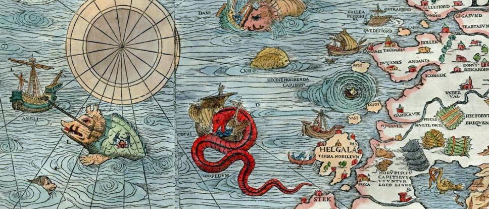 Morskie potwory na mapie z 1539 r. (2)