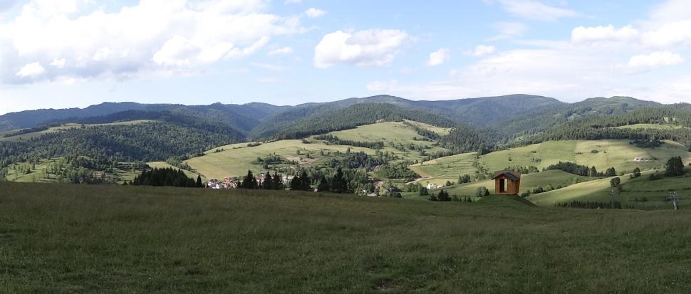 Panorama na pasmo Radziejowej