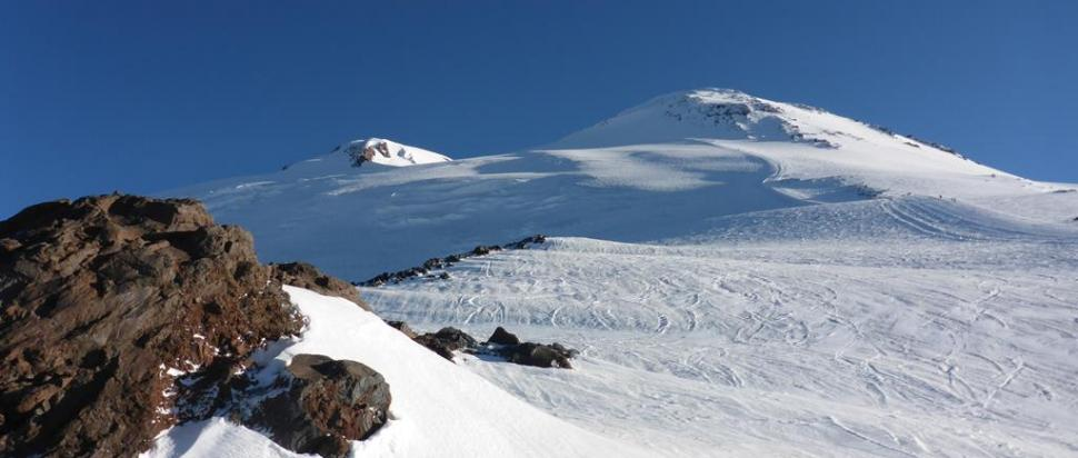 Dwa wierzchołki Elbrusa