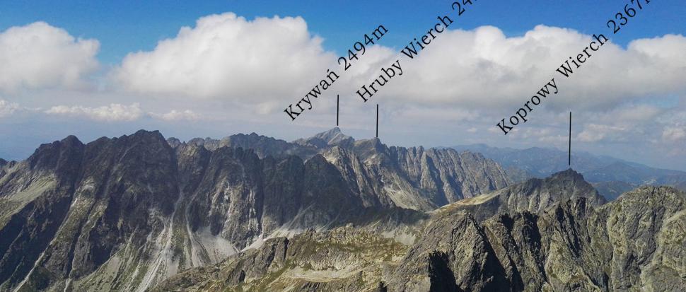 Fragment panoramy z Rysów – część zachodnia