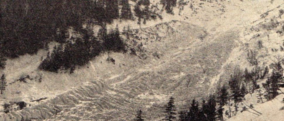 Lawinisko pod Białym Jarem w 1968 r.