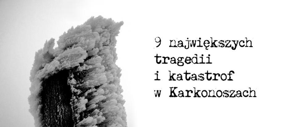 Okładka artykułu o katastrofach w Karkonoszach