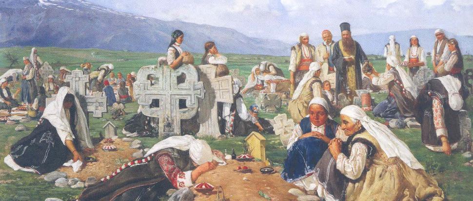 Zaduszki w Bułgarii, obraz z 1890 r.